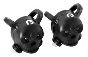 Lampa set BIKEFUN SKULL 2+2 led