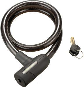 Lacat BikeFun Defender 2 cu cablu 18x1000 mm