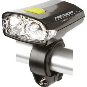 Lampa fata MERIDA 2 LED 3 functii USB acumulator (3,7V Li-ion) MD025