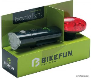 Lampa set BIKEFUN LINK F+S 5+4 LED