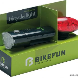 Lampa set BIKEFUN LINK F+S 5+4 LED