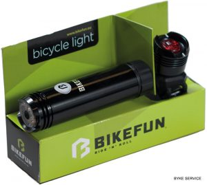Lampa set BIKEFUN SHOT 1+1 LED