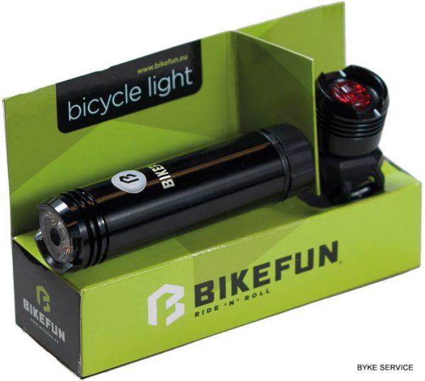 Lampa set BIKEFUN SHOT 1+1 LED