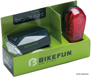 Lampa set BIKEFUN SQUARE F+S 4+3 LED