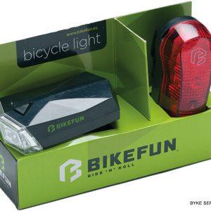 Lampa set BIKEFUN SQUARE F+S 4+3 LED