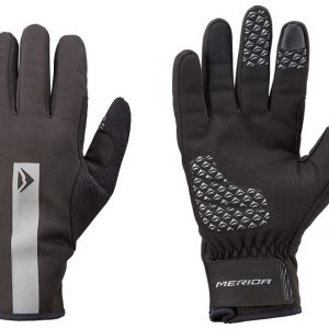 Manusi MERIDA WINTER GEL lung negru-gri