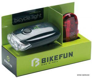 Lampa set BIKEFUN BLAZE F+S 3+5 LED